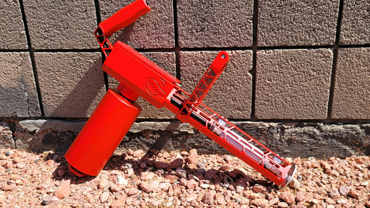"""Cerakoted Red XM42-M Modulars with 4"""" Tank"""