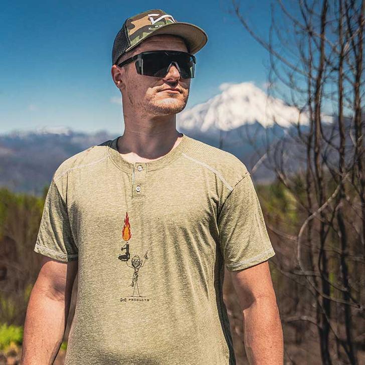 Flame Surge Button T-Shirt