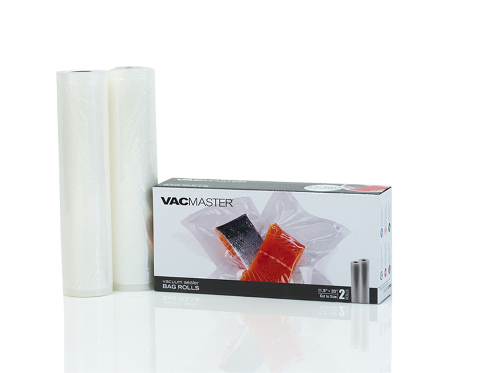 "11.5"" x 20' Full Mesh Vacuum Seal Rolls - 2 Pack"