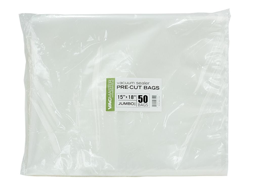 "Bulk - 15"" x 18"" Full Mesh Vacuum Seal Jumbo Bags - 50 Pack"