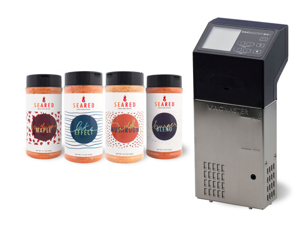 SV1 Sous Vide Cooking Immersion Circulator + FREE SEARED Spices Bundle