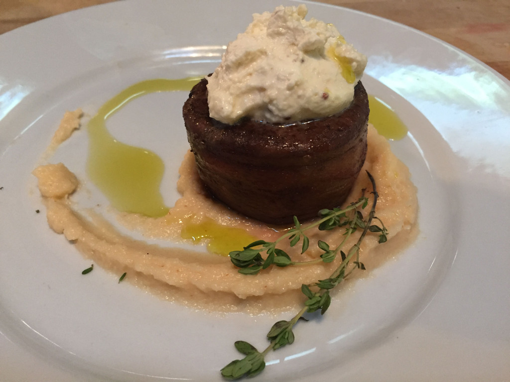 Filet Mignon with Bacon Wrap and Whipped Horseradish Cream Sous Vide