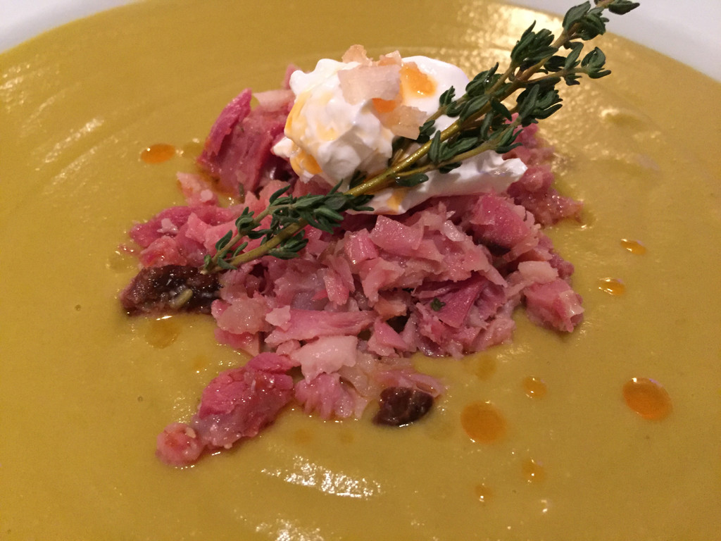 Split Pea Soup with Ham Bones & Hocks Sous Vide