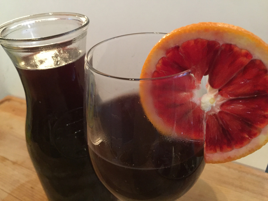 Mulled Wine with Blood Orange & Port