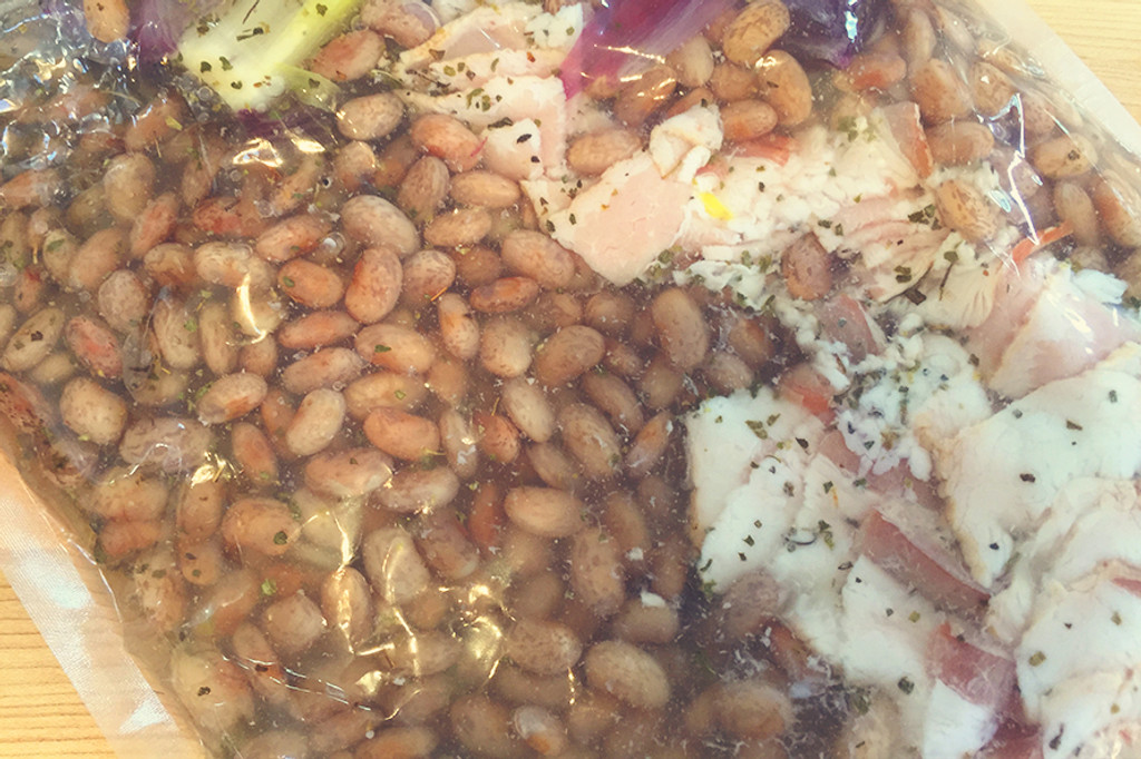Pinto Beans with Bacon Sous Vide