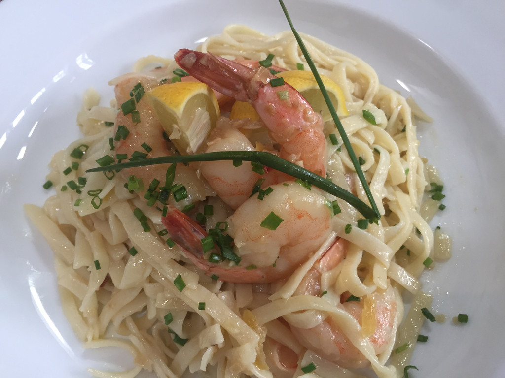 "Shrimp ""Scampi"" with Linquini"