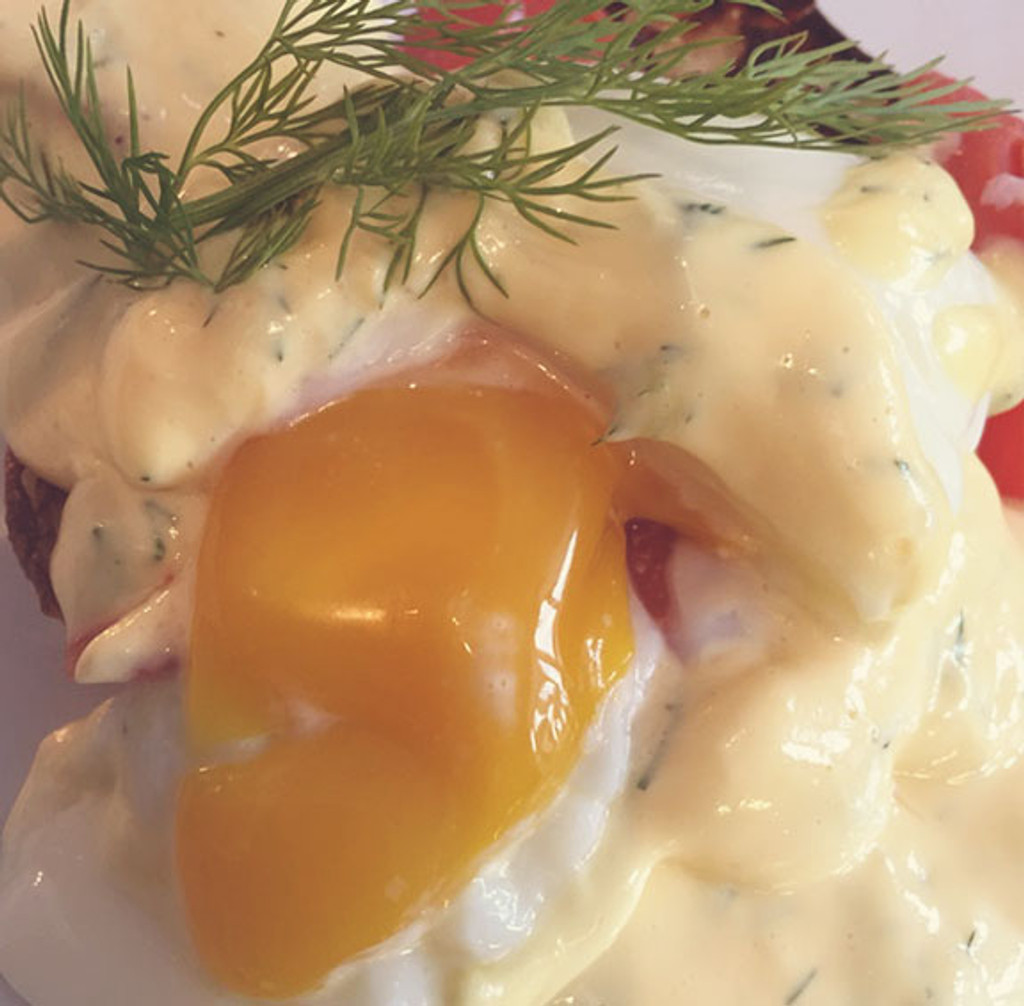 Smoked Salmon Eggs Benedict with Lime Dill Hollandaise for your Mother's Day Brunch!