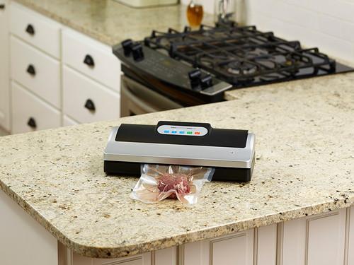 VacMaster PRO110 vacuum food sealer to vacuum package in home kitchen