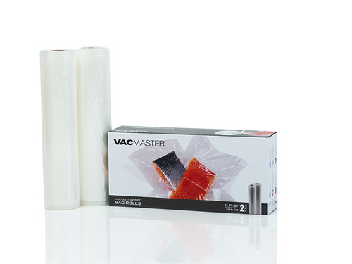 "11.5"" x 20' Full Mesh Vacuum Seal Rolls - 2 Pack"