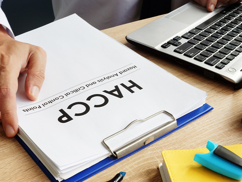 HACCP Plan Paperwork