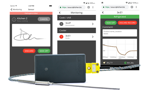 SOUS - Remote Temperature Monitoring Kit with Dashboard