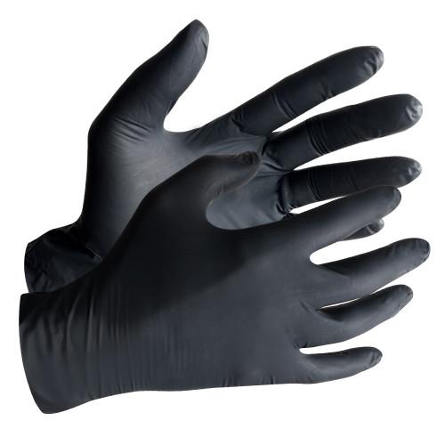 Black Powder-Free Disposable Nitrile Gloves, 4 Mil