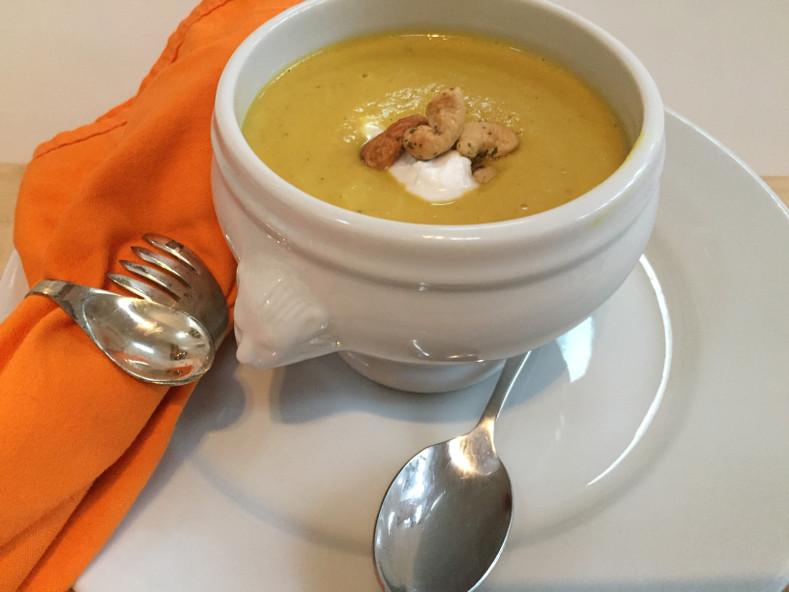 Butternut Squash Soup with Coconut Milk & Cashews Sous Vide