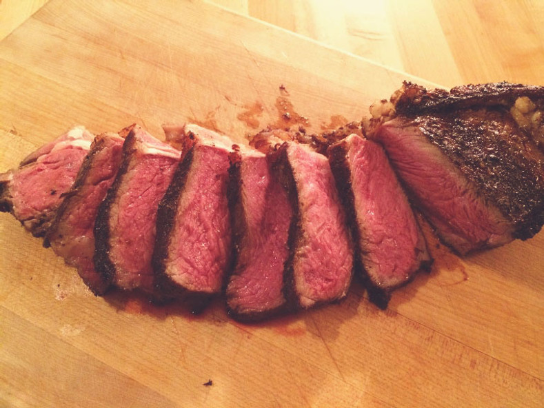 New York Strip with Wild Mushroom Salt - It's a meat eaters dream!