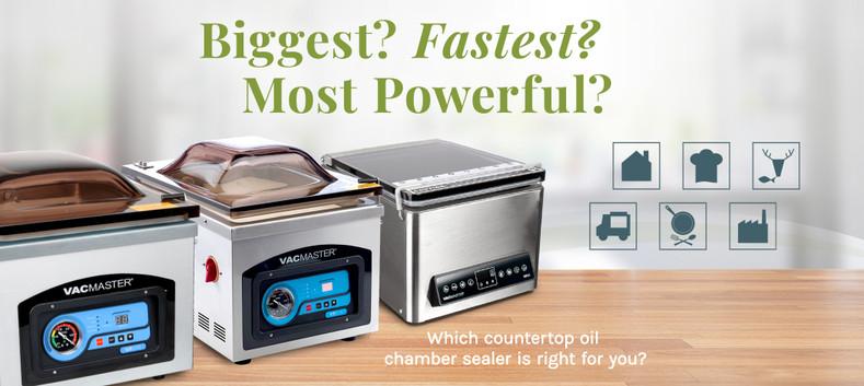 VacMaster® Oil Chamber Vacuum Packaging Machine Comparison