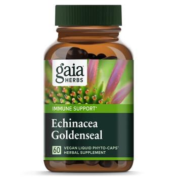 Gaia Herbs Echinacea Goldenseal 60 Liquid Phyto Caps Herbal Extract Capsules -20% Off