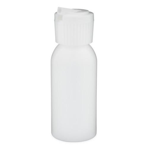 1 oz Natural (Semi-Translucent) Plastic Bottle with Poly Flip Spout
