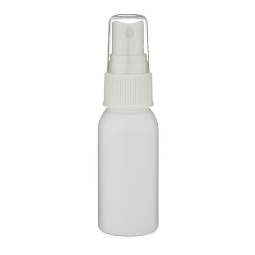 1 oz Natural (Semi-Translucent) Plastic Bottle with Spray Atomizer