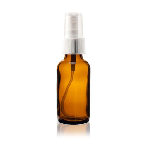 1 oz Amber Glass Bottle with Spray Atomizer