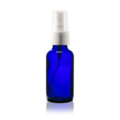 1 oz Cobalt Blue Glass Bottle with Spray Atomizer