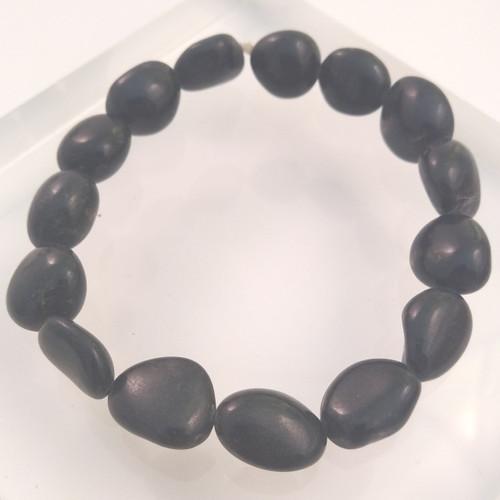 Black Tourmaline Tumbled Bead Bracelet