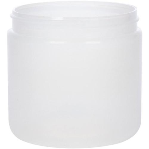 16 oz Natural Plastic Cylindrical Jar ( 89 mm)
