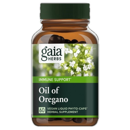 Gaia Herbs Oil of Oregano 60 Liquid Herbal Extract Capsules