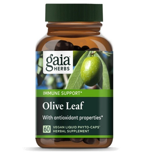 Gaia Herbs Olive Leaf 60 Liquid Phytocaps Herbal Extract Capsules