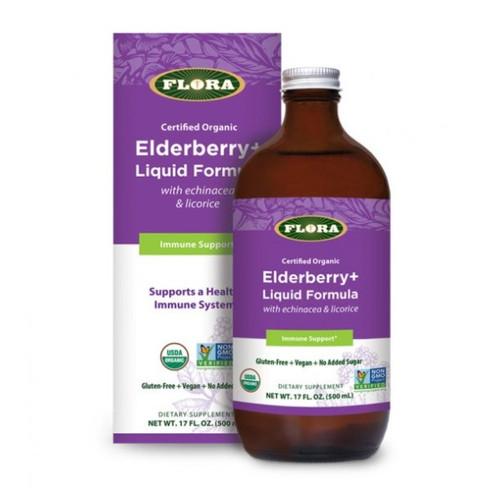 Flora Elderberry + Echinacea + Licorice 17 oz 500 ml