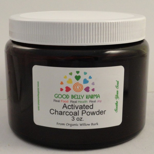 Charcoal Powder Activated White Willow Three Ounce Jar