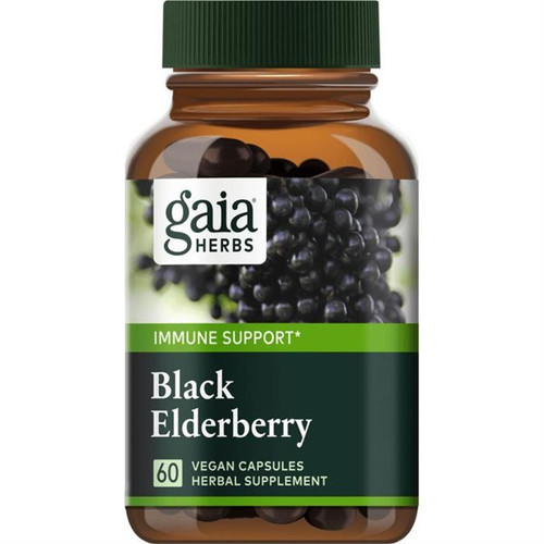 Elderberry Black 60 Liquid Herbal Extract Capsules