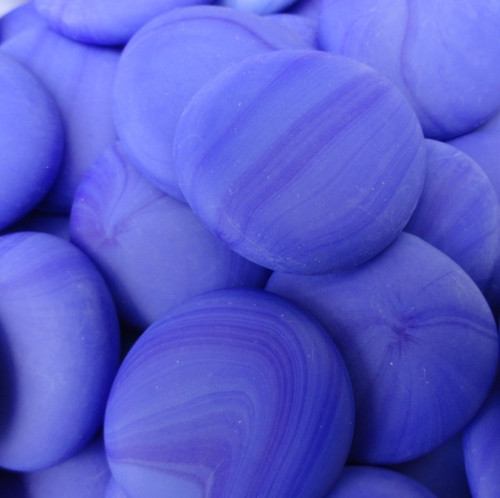 10 lbs Large Ocean Blue Glass Gems Tumbled 35-45 mm Approx 1.5 inch Mosaic Quality