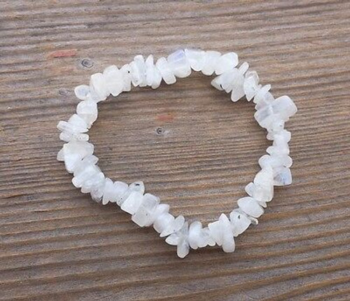 Moonstone Chip Stretch Bracelet