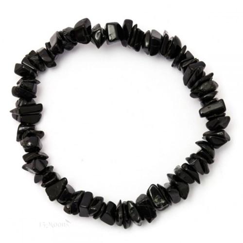 Black Tourmaline Chip Stretch Bracelet