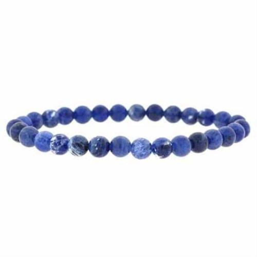 Sodalite 6 mm Round Bead Stretch Bracelet