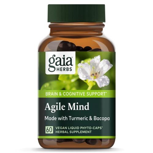 Gaia Herbs Agile Mind 60 Vegan Liquid Phyto Caps