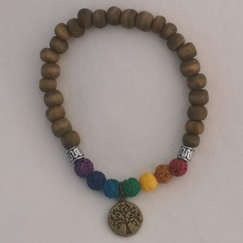 Chakra Lava Bead Aroma Bracelet