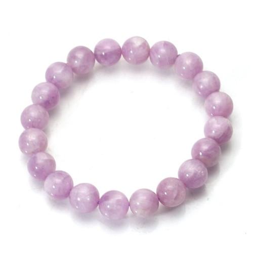 Kunzite A 8 mm Round Bead Stretch Bracelet