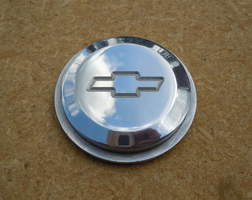 ETCHED CHEVROLET BOWTIE INSERT FOR 5 & 6 HOLE HORN BUTTONS