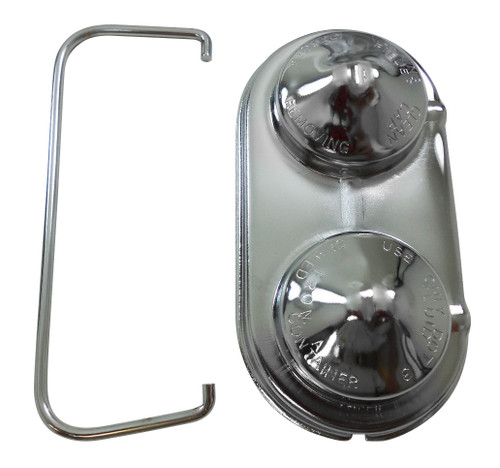 CHROME GM MASTER CYLINDER COVER 2 SMALL ROUND