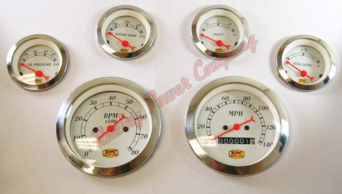 6 PC GAUGE KIT w/ELECTRONIC SPEDOMETER