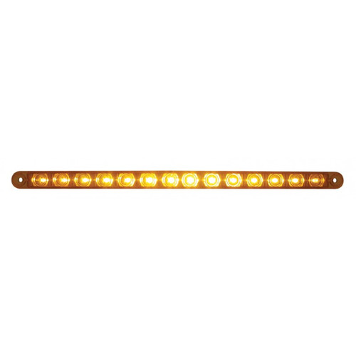 "14 LED 12"" AUXILIARY STRIP LIGHT AMBER"