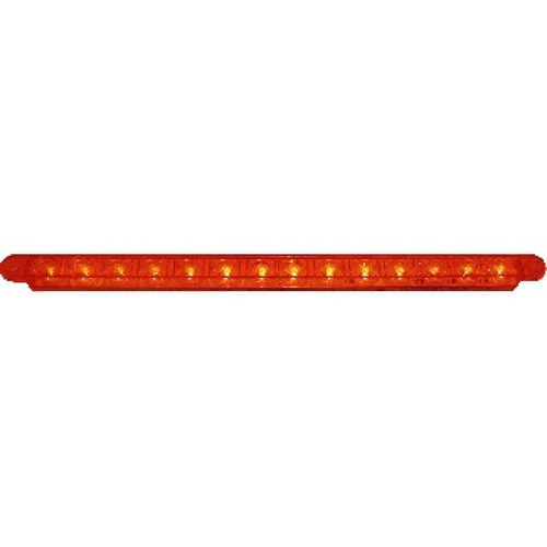 "14 LED 12"" SQUENTIAL STRIP LIGHT RED"