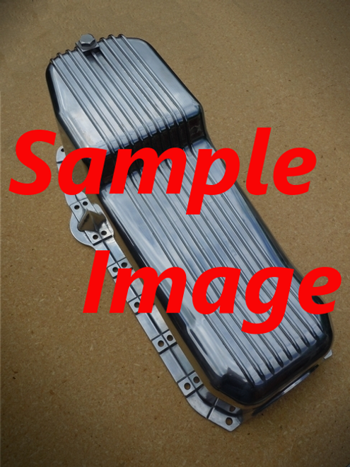 SB CHEV FINNED ALUMINUM OIL PAN 1986 & UP (PASSENGER SIDE DIPSTICK)