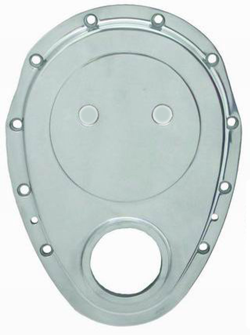 SB CHEV TIMING CHAIN COVER - ALUMINUM