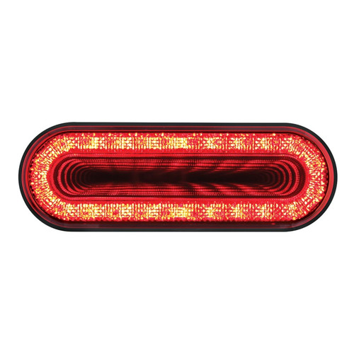 """6"""" OVAL INFINITY LIGHT - RED"""