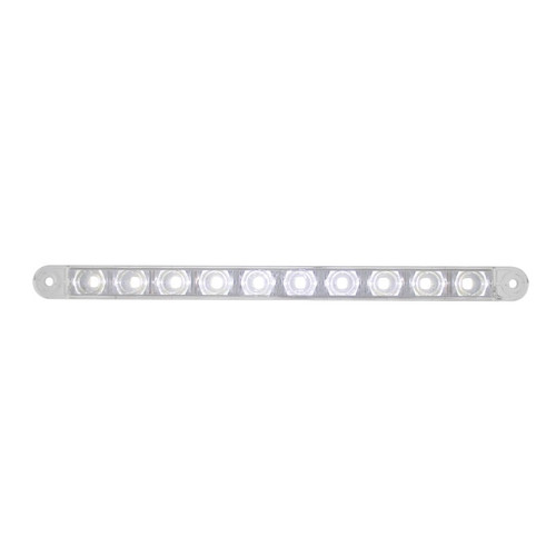 "10 LED 9"" AUXILIARY STRIP LIGHT WHITE"