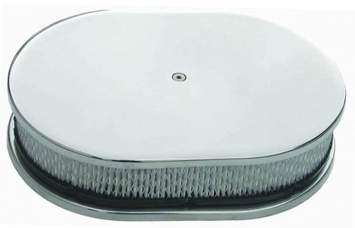 """12"""" SMOOTH ALUMINUM OVAL AIR CLEANER"""