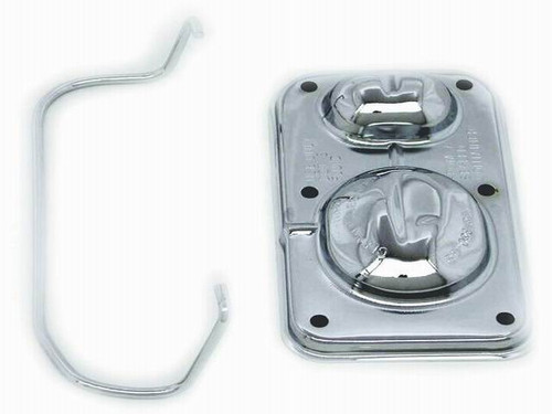 CHROME GM MASTER CYLINDER COVER 1 LARGE 1 SMALL
