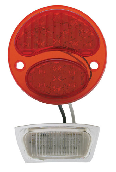 1928-31 Ford LED Tail Lens L/H (RED/RED 6v positive ground)